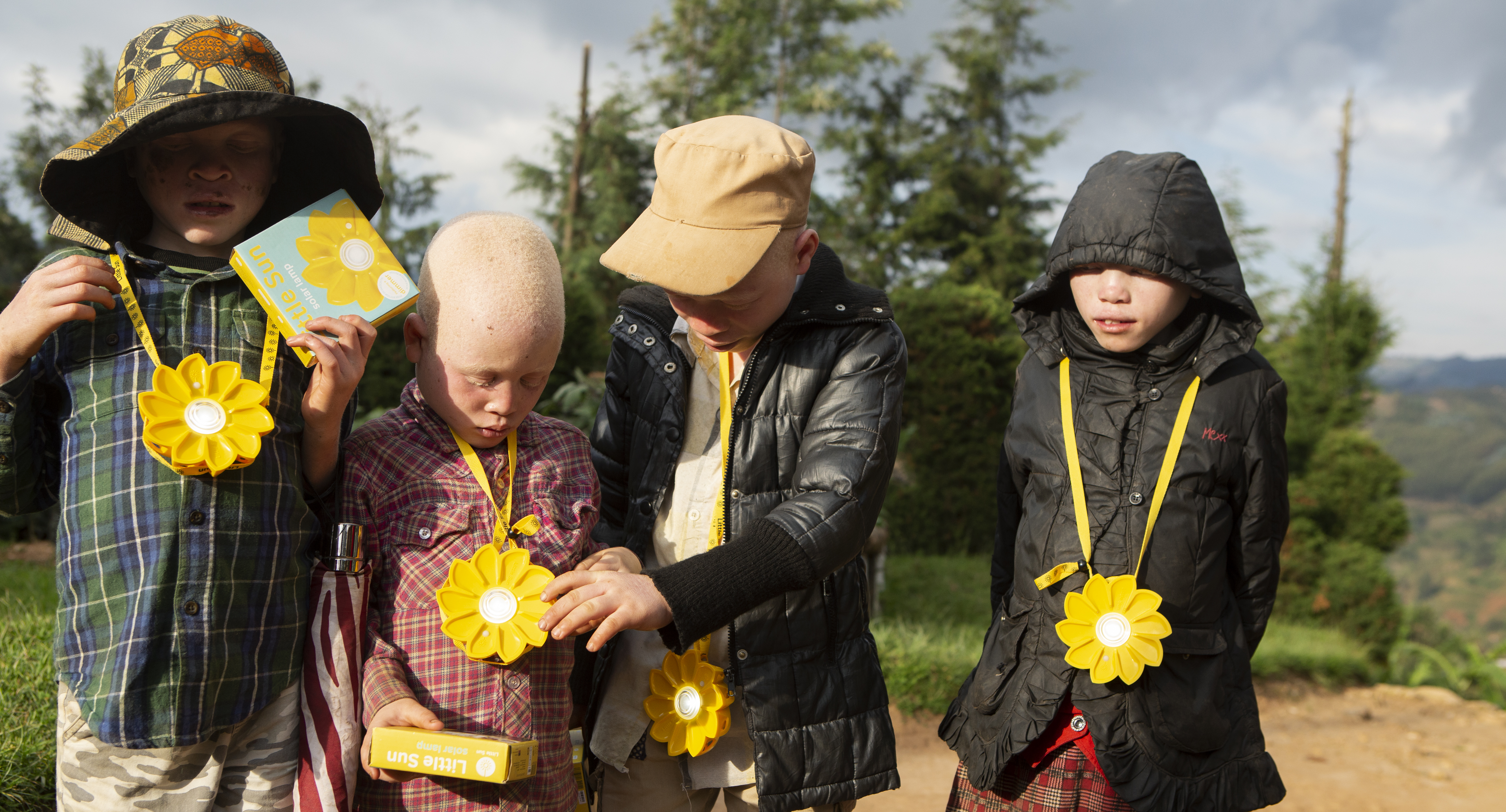 solar power for children with albinism in Rwanda 8