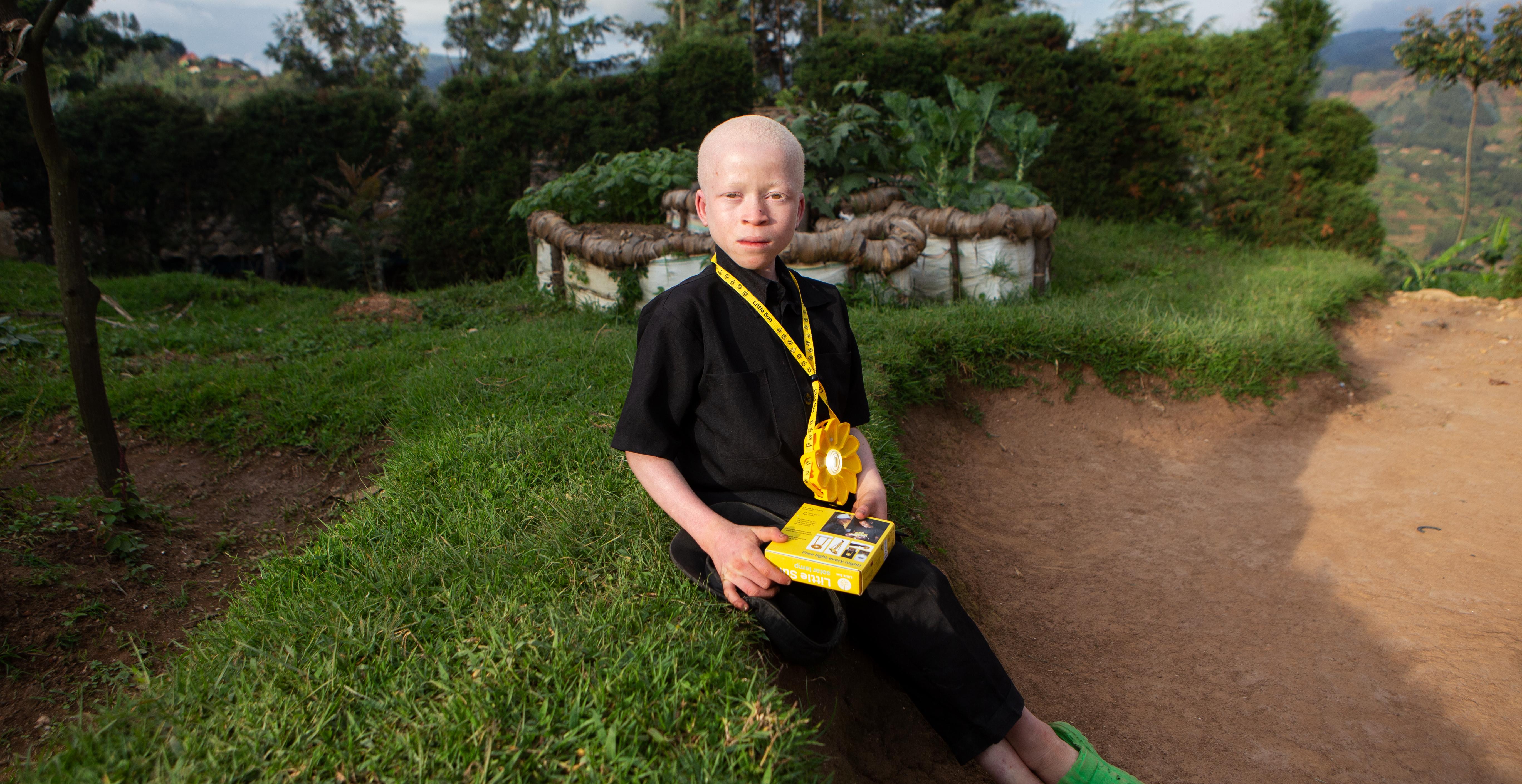 solar power for children with albinism in Rwanda