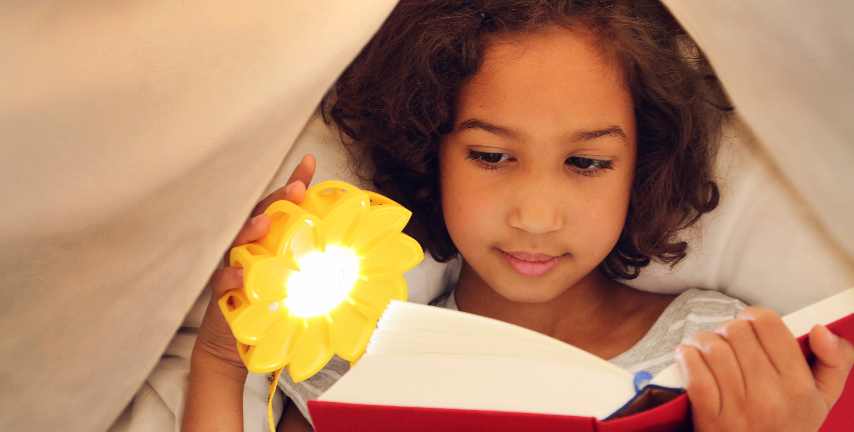 little sun solar lamp reading
